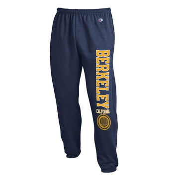 UC Berkeley Cal Champion Men's Banded Pants-Navy