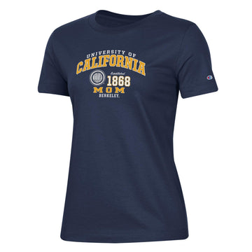 U.C. Berkeley Cal Mom Champion crew-Neck T-Shirt-Navy