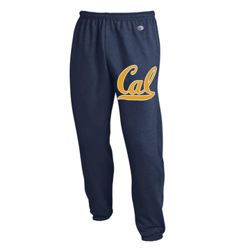 U.C. Berkeley Cal Bold Champion sweat pants-Navy