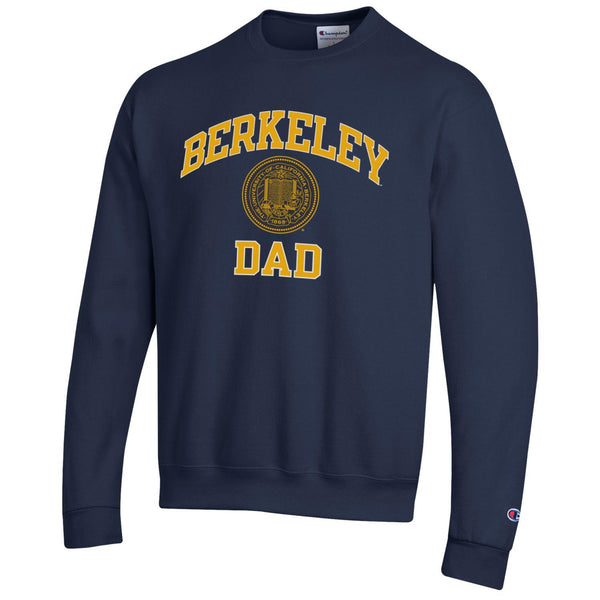 U.C. Berkeley Cal Dad Champion crew-neck sweatshirt-Navy-Shop College Wear