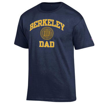 U.C. Berkeley Dad and Seal Champion T-Shirt-Navy