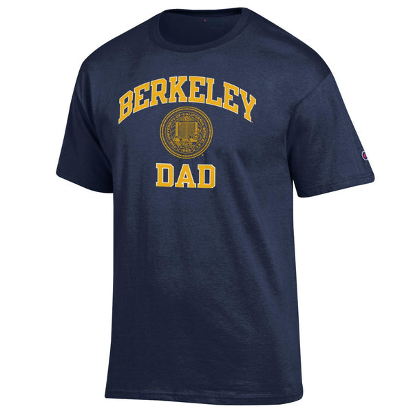 U.C. Berkeley Dad and Seal Champion T-Shirt-Navy-Shop College Wear
