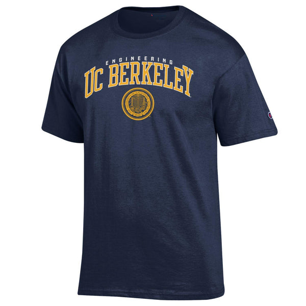 UC Berkeley Engineering & Seal Champion T- shirt- Navy-Shop College Wear