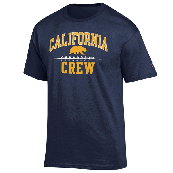 UC Berkeley Golden Bears Champion Men's Crew T-Shirt-Navy-Shop College Wear