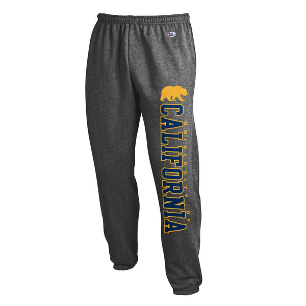 U.C. Berkeley California Golden Bears Cal Champion Cuffed Sweatpants-Charcoal-Shop College Wear