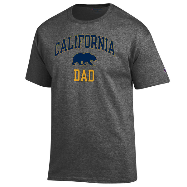UC Berkeley Cal Dad Champion T-Shirt-Charcoal-Shop College Wear
