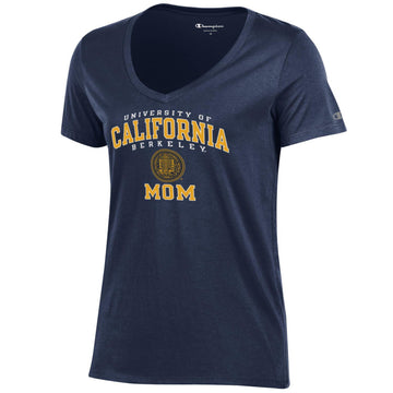 University Of California Berkeley Mom V-Neck T-Shirt-Navy