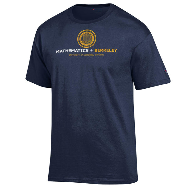 UC Berkeley Math Men's Champion T-Shirt - Navy-Shop College Wear
