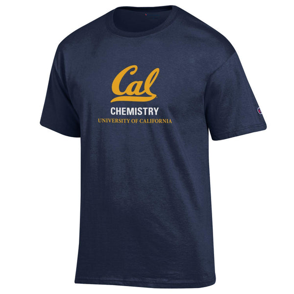 UC Berkeley Cal Champion Men's Chemistry 3 Stacks T-Shirt- Navy-Shop College Wear