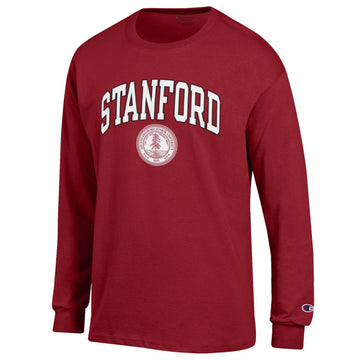 Stanford Cardinals  Arch & Seal Men's Champion Long sleeve T-Shirt-Cardinal