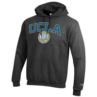 UCLA Block & Seal Champion Men's Hoodie Sweatshirt-Charcoal-Shop College Wear