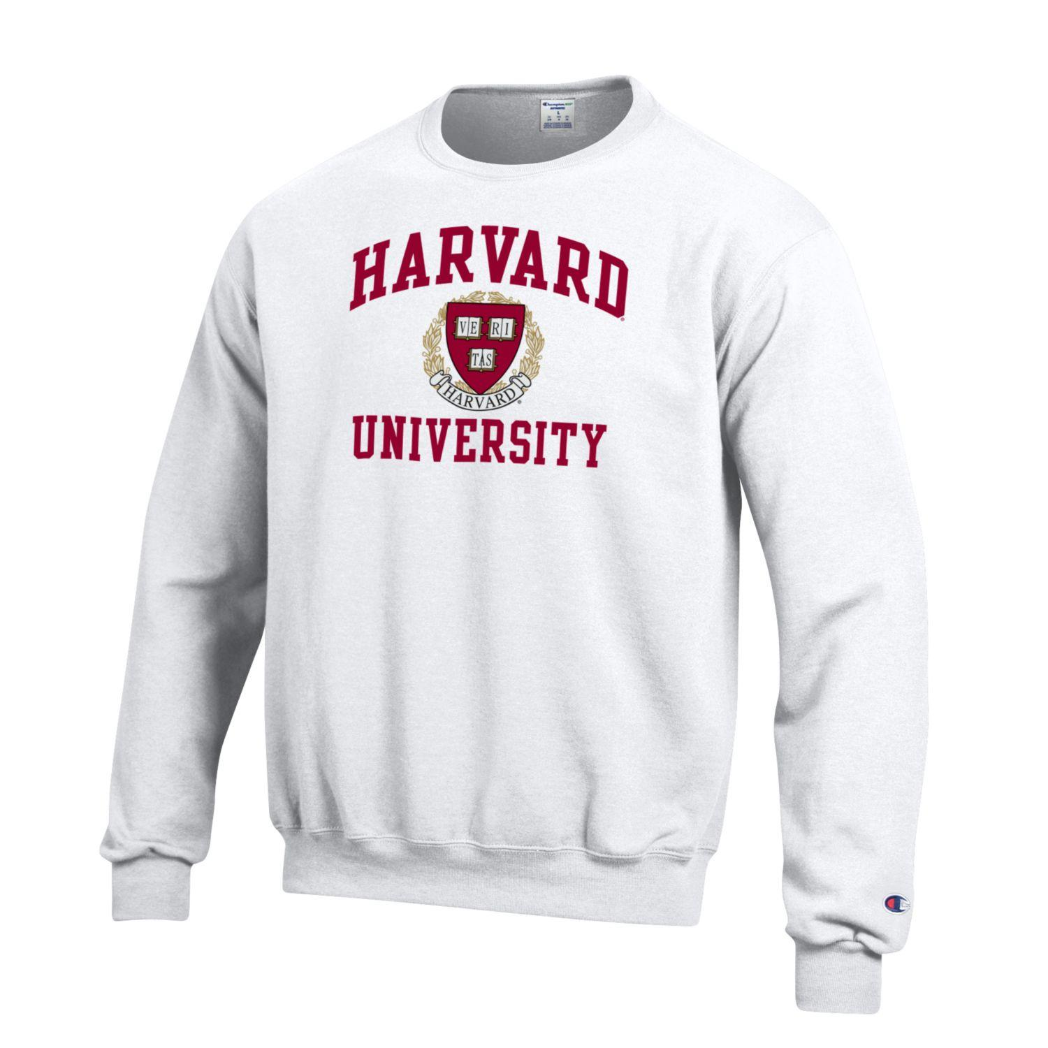 Champion Men's White Harvard Sweatshirt University L5R34Aj