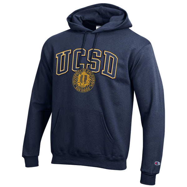 UC San Diego Men's Champion Hoodie Sweatshirt-Navy-Shop College Wear