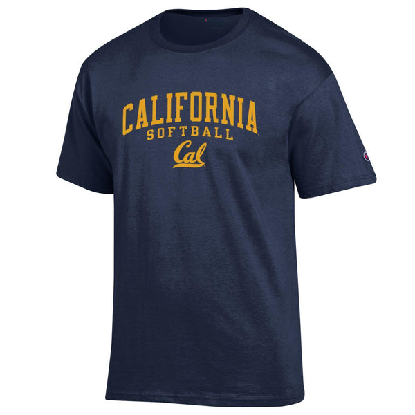 UC Berkeley Cal Champion Men's Softball T-Shirt - Navy-Shop College Wear