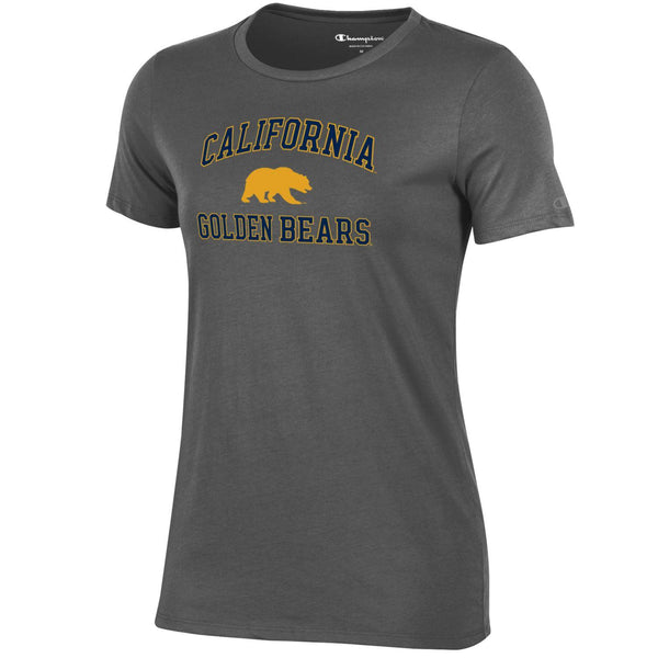 UC Berkeley Golden Bears Women's Champion T-Shirt-Charcoal-Shop College Wear