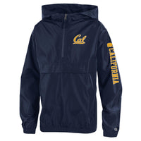 UC Berkeley Cal Champion Youth Pack N Go Jacket-Navy-Shop College Wear