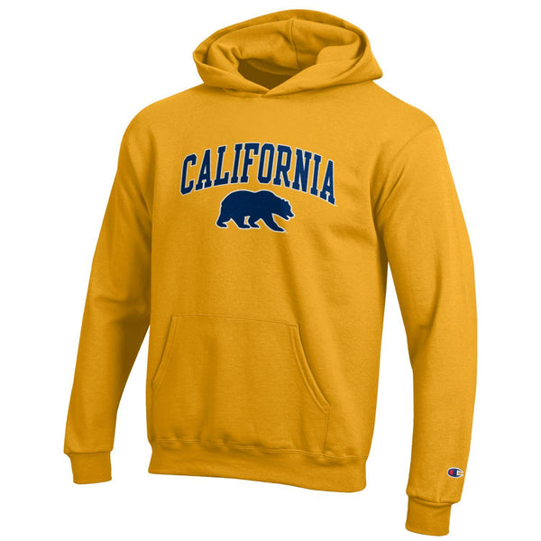 U.C. Berkeley California Golden Bears arch youth hoodie sweatshirt-Gold-Shop College Wear
