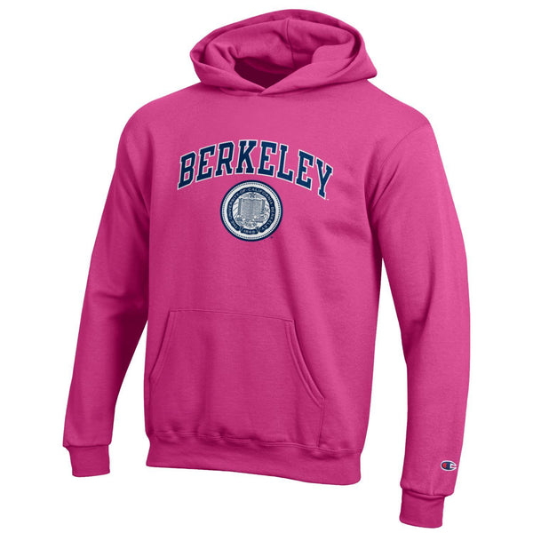 UC Berkeley Cal Champion Youth Hoodie Sweatshirt-Pink-Shop College Wear