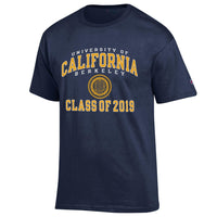 UC Berkeley Cal Class of 2019 Champion Men's T-Shirt-Navy-Shop College Wear