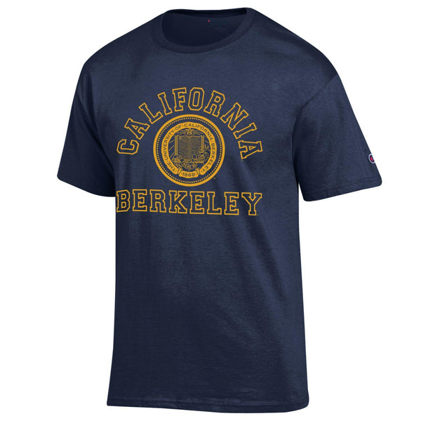UC Berkeley California Arch & Seal Champion Men's T-Shirt-Shop College Wear