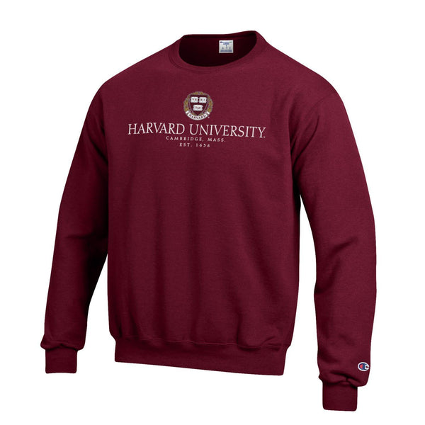 Harvard University Men's Crew-Neck Sweatshirt-Crimson-Shop College Wear