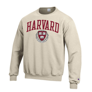 Harvard University Crimson Champion Sweatshirt-Oatmeal