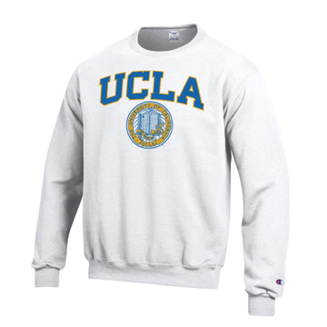 University Of California Los Angeles UCLA Block & Seal Crew Neck Sweatshirt-White