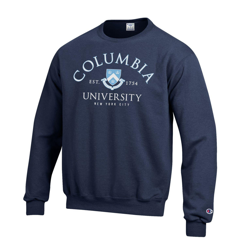 Columbia Lions Men's Crew Neck Sweatshirt-Navy-Shop College Wear