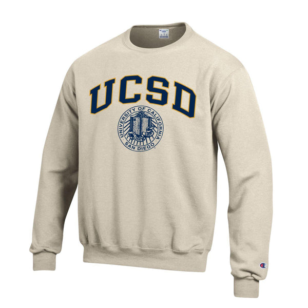 UC San Diego Tritons Block & Seal Champion Sweatshirt-Oatmeal-Shop College Wear