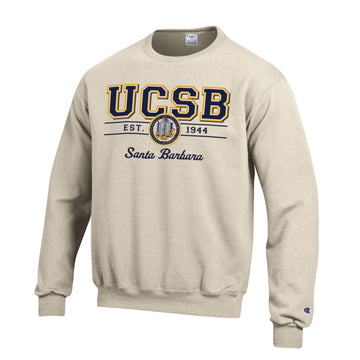 University Of California Santa Barbara UCSB Crewneck Sweatshirt-Oatmeal