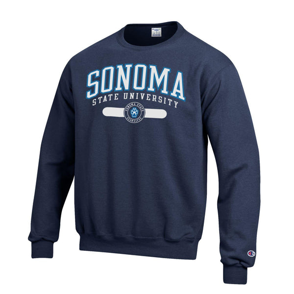California State University Sonoma Seawolves Crewneck sweatshirt-Navy-Shop College Wear