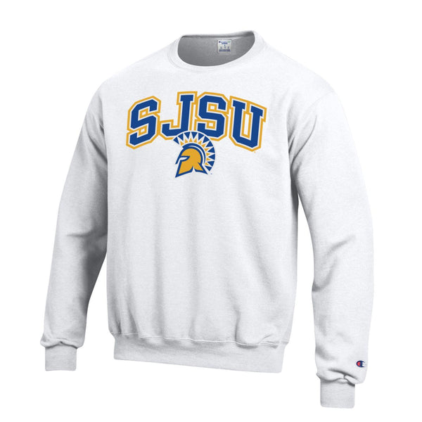 San Jose State Spartans Crew-Neck Sweatshirt-White-Shop College Wear