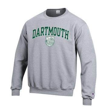 Dartmouth University Big Green Men's Crew-Neck Sweatshirt-Gray