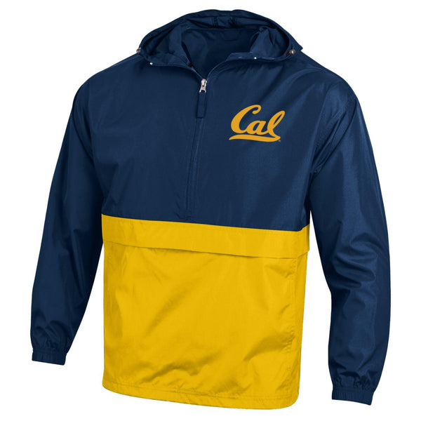 U.C. Berkeley Cal Bears Champion Color Block packable nylon jacket-Navy-Shop College Wear