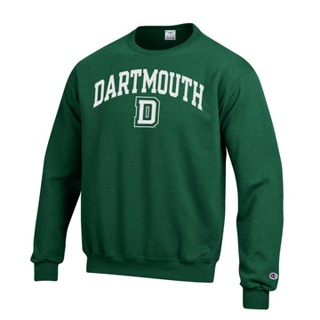 Dartmouth Big Green Champion Crew Neck Sweatshirt-Green