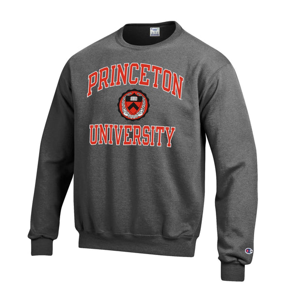 Princeton University Tigers Champion Crew-Neck Sweatshirt-Charcoal-Shop College Wear