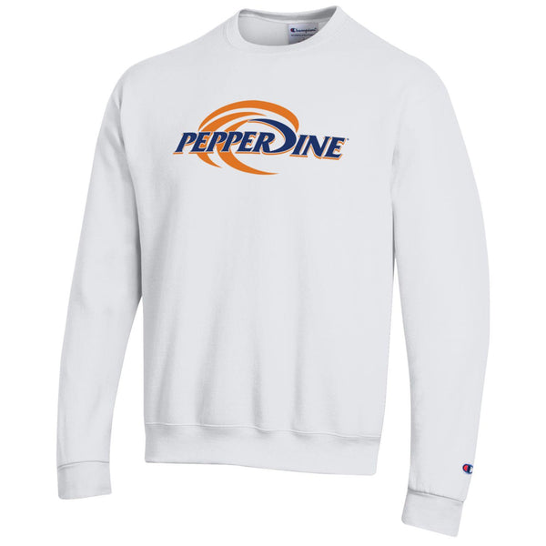 Pepperdine University Waves crew neck sweatshirt-white-Shop College Wear
