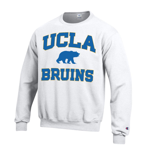 U.C.L.A. Bruins & Bear Champion crew-neck sweatshirt-White-Shop College Wear