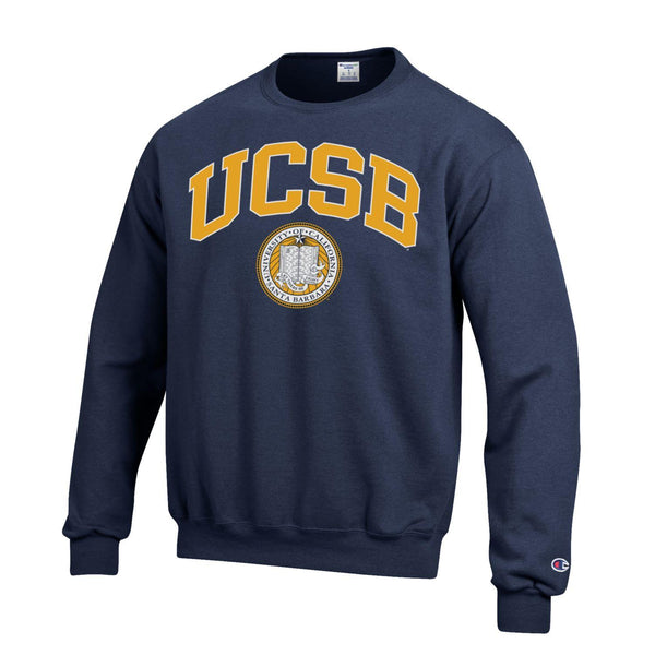 UC Santa Barbara U.C.S.B. Gauchos Champion crew-Neck sweatshirt-Navy-Shop College Wear