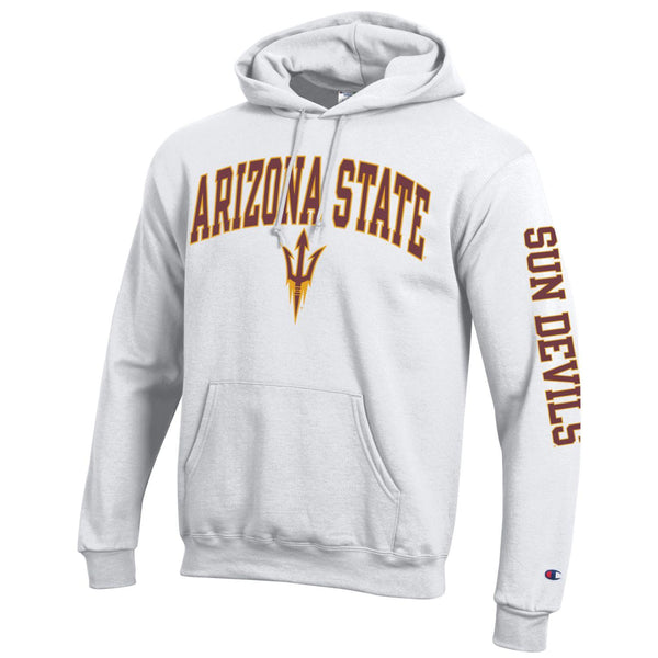 Arizona State A.S.U. Sun Devils Sparky Champion hoodie sweatshirt-White-Shop College Wear