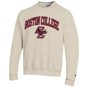 Boston College Eagles Champion crew-neck sweatshirt-Oatmeal