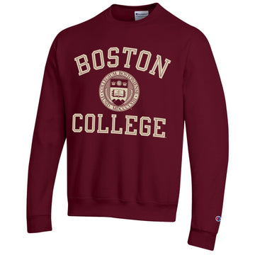 Boston College arch & seal Champion crew-neck sweatshirt-Maroon