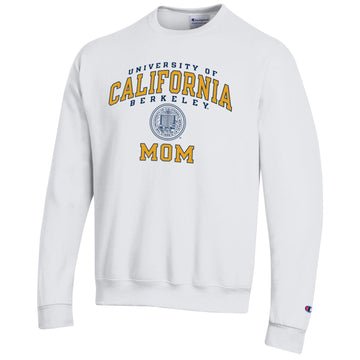 U.C. Berkeley Cal mom Champion crew neck sweatshirt-White