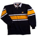 University Of California Berkeley Cal Wide Stripe Rugby shirt- Navy