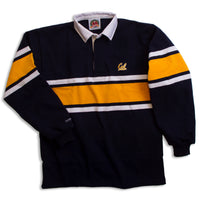 University Of California Berkeley Cal Wide Stripe Rugby shirt- Navy-Shop College Wear