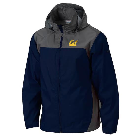 UC Berkeley Cal Men's Columbia Windbreaker Jacket- Navy-Shop College Wear