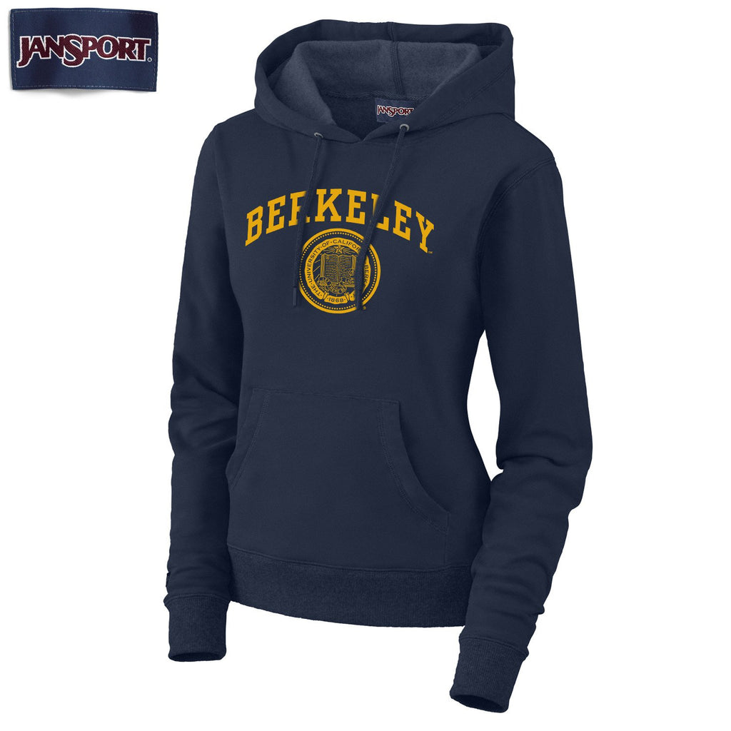 UC Berkeley Arch & Seal Jansport Women's Sweatshirt - Navy-Shop College Wear