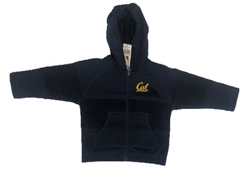 U.C. Berkeley Cal embroidered polar fleece kids hoodie sweatshirt-Navy