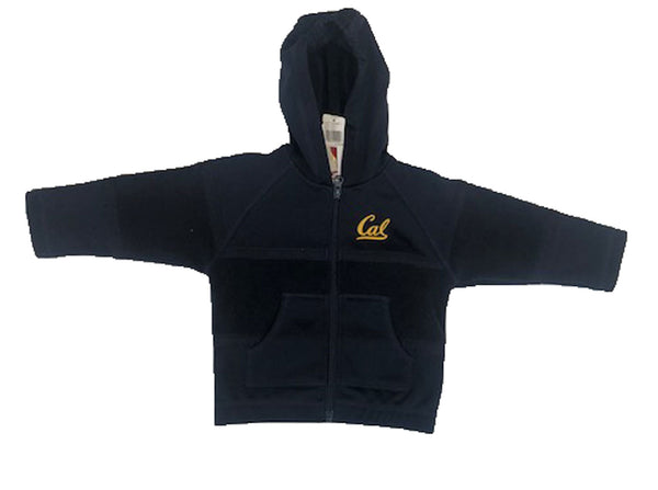 U.C. Berkeley Cal embroidered polar fleece kids hoodie sweatshirt-Navy-Shop College Wear
