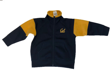 U.C. Berkeley Cal embroidered Sherpa combo Kids jacket-Navy